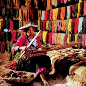Blanket making in Peru