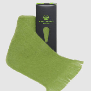 100% New Zealand Alpaca Scarf. Masterweave Lime