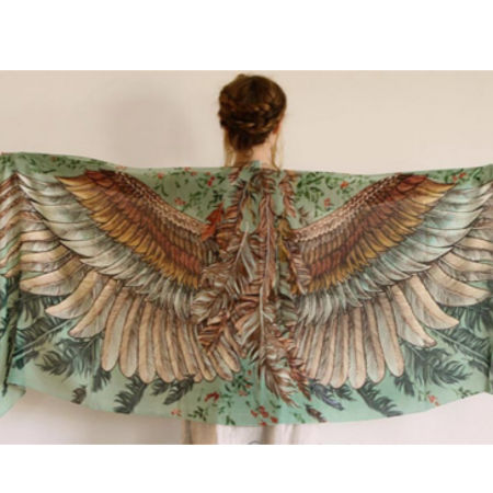 Gorgeous wearable art, silk cashmere wrap from goodcreations.nz