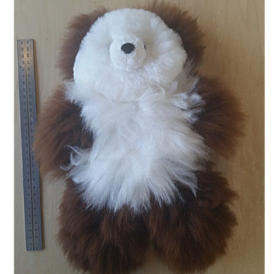 Adorable SnowChoc Teddy made with 100% alpaca fleece