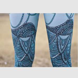 Stunning organic cotton yoga pant / jegging / Wearable art