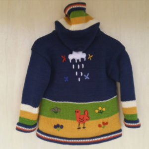 Super cute alpaca blend knitted kids' jacket from goodcreations.nz