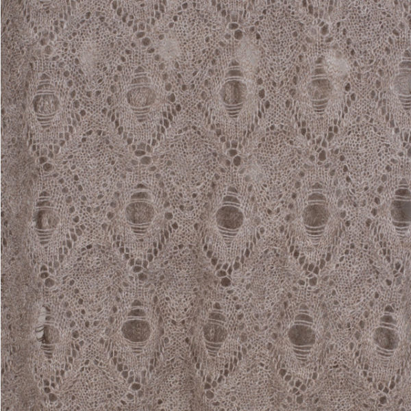 100% Baby Alpaca Knit Shawl in Taupe from Peru. Fair trade certified