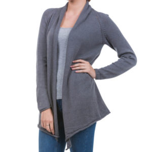 Devine alpaca-cotton open cardigan, fair trade certified from Good Creations.