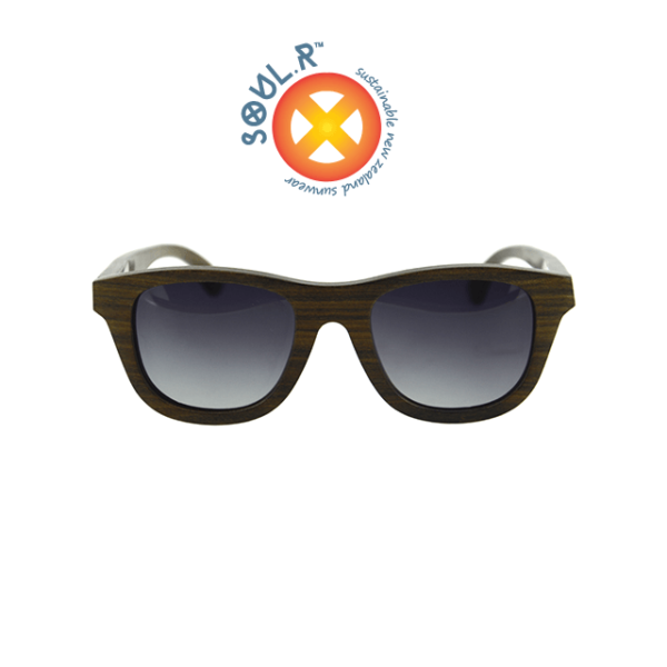 SOUL.R Black Star sustainable wooden sunglasses