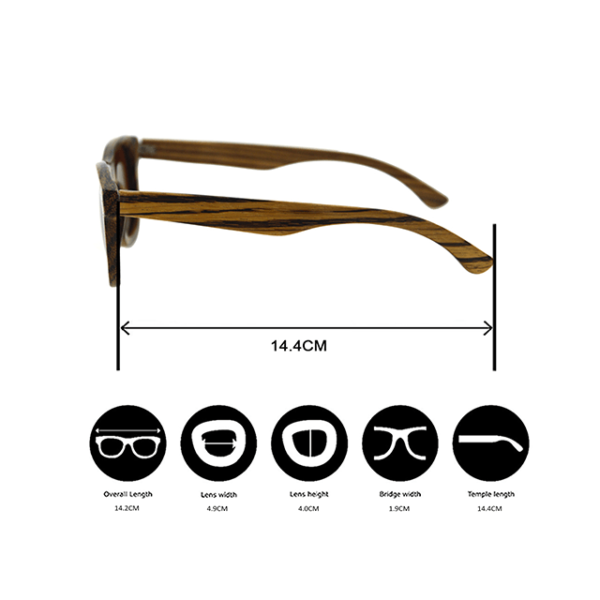 SOUL.R Zodiac sustainable sunglasses made from FSC certified wood and polarised lenses